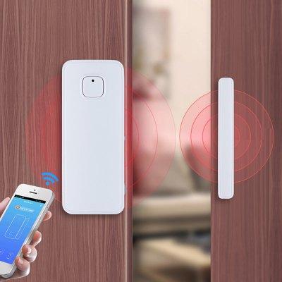 MoesHouse WF-WD001 Smart WiFi Door Window Sensor Detector Wireless Home Security Alarm Tuya APP works with Amazon Alexa Google Home