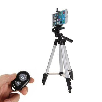 HQ015 Smartphone Vlog Tripod Cell Phone Holder Mount with Camera Shutter Remote Control