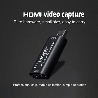 Mini Video Card Capture HDMI USB 2.0 Video Grabber Record Box for PS4 Game DVD Camcorder HD Camera Recording Live Streaming