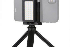 Leehur Mini Tripod Mobile Phone Live Fill Light & Phone Clamp Bracket Photography Desktop Tripod 8