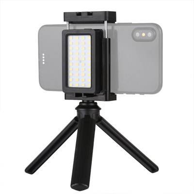 Leehur Mini Tripod Mobile Phone Live Fill Light & Phone Clamp Bracket Photography Desktop Tripod