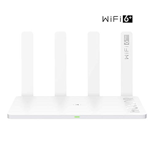HONOR Router 3 WiFi 6 Plus 3000Mbps Wireless Router Dual Core 1.2GHz Processor Smart Home Office Internet Router Global EU Version with US Adapter, White