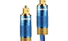 AMPCOM Optical Fiber Audio Cables Male to Male Toslink Zinc Alloy for Home Theater TV PS4 or More