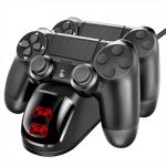 Dual USB Handle Fast Charging Dock Station Stand Charger for PS4/PS4 Slim/PS4 Pro Game Controller Joypad Joystick