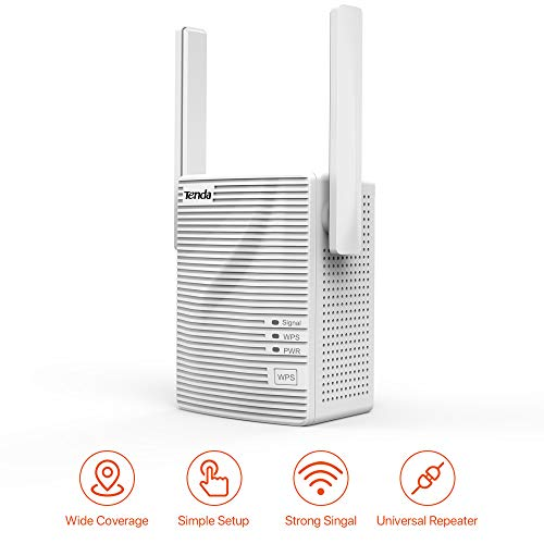 Tenda A301 300Mbps WiFi Range Extender Signal Booster Repeater, with Intelligent Signal Indicator 2 Antenna Add Coverage up to 1200 sq.ft. in Your House, Easy Setup