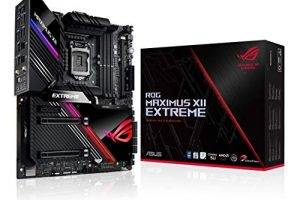 """ASUS ROG Maximus XII Extreme Z490 (WiFi 6) LGA 1200(Intel 10th Gen) EATX Gaming Motherboard (16 Power Stages, 10 G & Intel 2.5G LAN, Fan Extension Card & ThunderboltEX 3-TR Card, 2"""" Livedash OLED) 8"""
