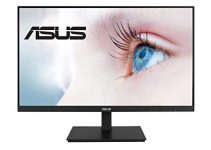 "ASUS VA27DQSB 27"" Monitor, 1080P Full HD, 75Hz, IPS, Adaptive-Sync, Eye Care, HDMI DisplayPort VGA USB Hub, Frameless, Ergonomic Design, VESA Wall Mountable 2"