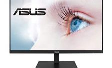"ASUS VA27DQSB 27"" Monitor, 1080P Full HD, 75Hz, IPS, Adaptive-Sync, Eye Care, HDMI DisplayPort VGA USB Hub, Frameless, Ergonomic Design, VESA Wall Mountable"