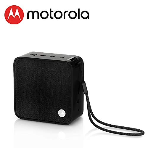 MOTOROLA Sonic Boost 210 Portable Wireless Smart Speaker 4.1 Bluetooth Speaker 4 Hours Battery Life Loud Extra Bass Compatible with Voice Assistant Black