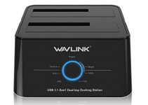 Wavlink USB C 3.1 to SATA Dual Bay External Hard Drive Docking Station with Offline Clone for 2.5/3.5in SSD HDD SATA (SATA I/II/III) 6Gbps, Support 2X 8TB and UASP-Black 2