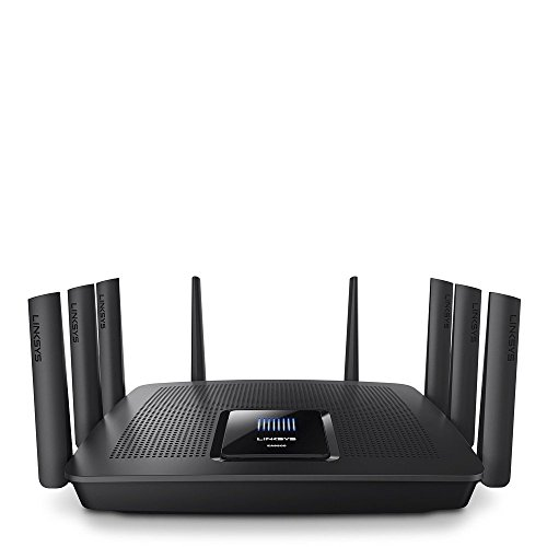 Linksys Tri-Band Wi-Fi Router for Home (Max-Stream AC5400 MU-Mimo Fast Wireless Router), Black
