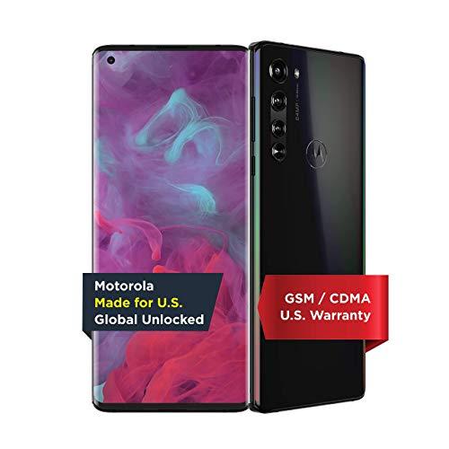 Motorola Edge | Unlocked | Made for US by Motorola | 6/256GB | 64MP Camera | 2020 | Solar Black (Renewed)