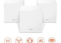 Tenda NOVA Whole Home Mesh Wi-Fi System, Tri-Band AC2100 Router/Extender Replacement, 100+ Devices, Seamless Roaming, URL-Parental Control, Compatible with Alexa for 6000 sq. ft. (MW12 3PK) 1