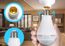 Icy 960P 360°  Bulb Camera Panoramic Fisheye Wifi IP Camera Light Bulb Home IR Wireless Audio Video CCTV Security Surveillance Network 6