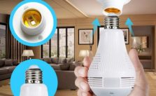 Icy 960P 360°  Bulb Camera Panoramic Fisheye Wifi IP Camera Light Bulb Home IR Wireless Audio Video CCTV Security Surveillance Network