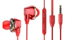 Baseus Encok H10 Electroplating Double Action Coil Wire Control Headset Mobile Phone Headset