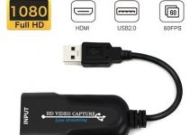 HDMI Video Capture Card USB 2.0 1080P Video Record Box for PS4 Game DVD Camcorder HD Camera Recording Live Streaming 4