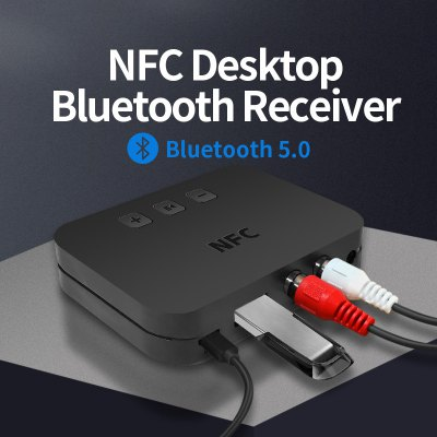 New Ti-800 NFC Bluetooth 5.0 Audio Receiver AUX Interface 3.5mm To Lnterface