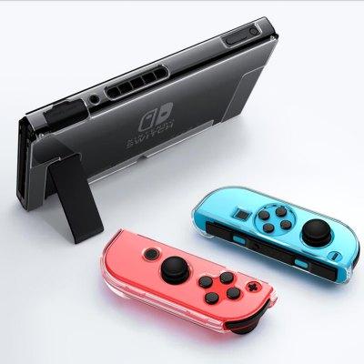 Transparent PC Protector Case Cover for Nintendo Switch Console Joy-Con Controller