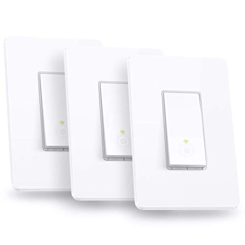 Kasa Smart Light Switch by TP-Link,Single Pole,Needs Neutral Wire,2.4Ghz WiFi Light Switch Works with Alexa and Google Assistant,UL Certified, 3-Pack(HS200P3)