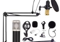BM 800 Microphone Condenser Sound Recording Microphone With Shock Mount For Radio Braodcasting Singing Recording KTV Karaoke Mic 6