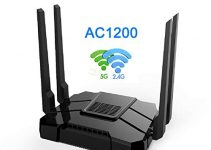 Smart WiFi Router High Speed Gigabit Dual Band 2.4GHz and 5GHz AC1200 Wireless Router for Home and Gaming Coverage up to 3500 sq.ft and 40 Plus Devices 5