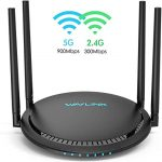 AC1200 Smart WiFi Router – WAVLINK 1200Mbps Touch Link Smart Dual Band Gigabit Wireless Internet Router,5Ghz + 2.4Ghz with 4x5dBi Omni Directional Antennas WiFi Router for Online Game&HD Video