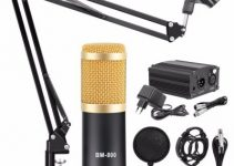 BM 800 Microphone Condenser Sound Recording With Shock Mount And 48V Phantom Power For Radio Braodcasting Singing Recording KTV Karaoke Mic 1