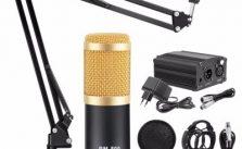 BM 800 Microphone Condenser Sound Recording With Shock Mount And 48V Phantom Power For Radio Braodcasting Singing Recording KTV Karaoke Mic