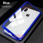 Suitable For IPhone XS Magnetic Protective Shell Adsorption Shock Toughened Glass Protective Shell Anti-peeping