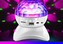 LEEHUR Bluetooth Speaker Colorful Lights Loudspeaker Stage Lights Support TF U Disk AUX Speaker 5