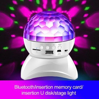 LEEHUR Bluetooth Speaker Colorful Lights Loudspeaker Stage Lights Support TF U Disk AUX Speaker
