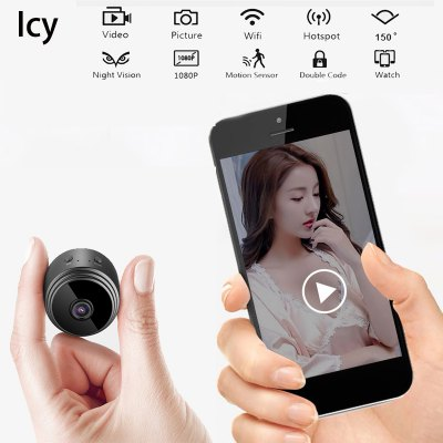 Icy Mini Wireless Camera  WiFi HD 1080P Home Security Night Vision Wireless Surveillance Camera Remote Monitor Phone Camera