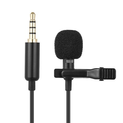 Portable 3.5mm Mini Mic Microphone Clip-on Mini Audio Mic for iPhone Andriod Mobile Phones