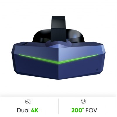 Pimax Vision 8K Plus Virtual Reality Headset with Wide 200 degrees FOV Dual 4K UHD RGB Panels for PC VR Video Game 3D VR Glasses
