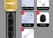 LEEHUR Professional Karaoke Handheld Portable Microphone Sing Recording Live Wired Microfone for computer iphone huawei xiaomi 2