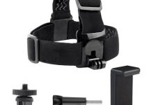 Camera Head Belt Strap Mount with Phone Clip Holder 5mm Adapter for GoPro Hero7/6/5/4/3/2 Sport Camera Accessories 5