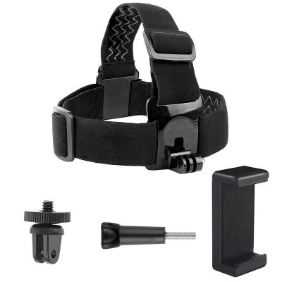 Camera Head Belt Strap Mount with Phone Clip Holder 5mm Adapter for GoPro Hero7/6/5/4/3/2 Sport Camera Accessories