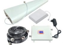 4G FDD LTE 3G W-CDMA Mobile Phone Signal Booster 2600MHz 2100MHz Signal Repeater 6