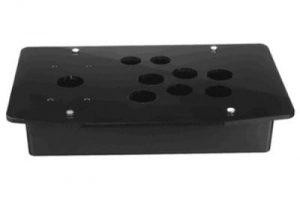 Acrylic Panel Game USB Rocker Box Bottom Shell ABS Plastic Steel Bottom Box + Accessories Screw Shell 3