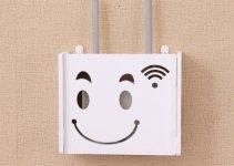 Line Box Free Punching Wireless Router WiFi Storage Box Shelf Wall Hanging Box Decorative Covering Net 1