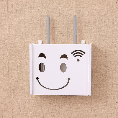 Line Box Free Punching Wireless Router WiFi Storage Box Shelf Wall Hanging Box Decorative Covering Net