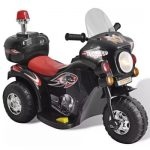 vidaXL Kid Electric Motocycle Black 80086