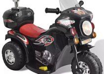 vidaXL Kid Electric Motocycle Black 80086 4