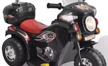 vidaXL Kid Electric Motocycle Black 80086