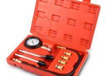 Engine Cylinder Compression Gauge Diagnostic Tester 0 - 300 psi Pressure Range for Motorcycles Cars 5