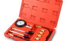 Engine Cylinder Compression Gauge Diagnostic Tester 0 – 300 psi Pressure Range for Motorcycles Cars