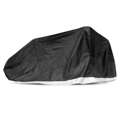 Motorcycle Cover with Windproof Buckle 190D Water-resistant Sunproof Polyester for All Seasons