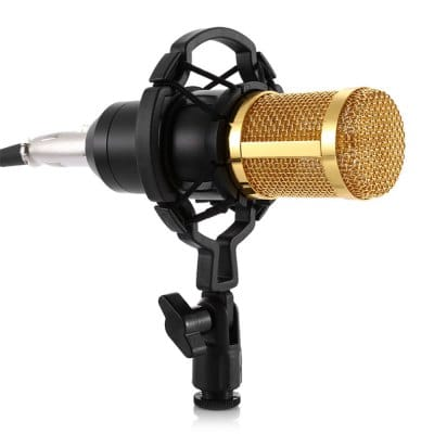 BM800 Condenser Audio 3.5mm Studio Professional Wired Microphone For Radio Braodcasting Singing Mic Holder Sound Computer Recording Microphone Karaoke