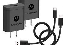 [2-Pack] Motorola TurboPower 18 QC3.0 Chargers with long 6.6 foot USB-A to USB-C cables for Moto Z, Z2, Z3, X4, Motorola One, One Power, G7, G7 Play, G7 Plus,G6, G6 Plus [NOT for G6 Play] (Retail Box) 5